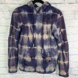 Vintage Free People Tie Dye Hoodie | Jacket